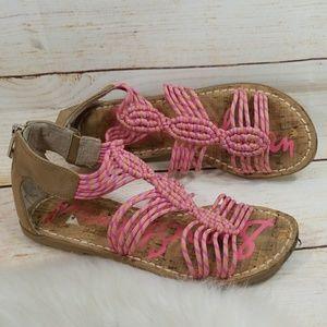 d1957b5ec7e6 RARE Sam Edelman pink string ankle sandals 6.5